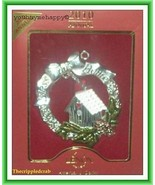 """Lenox  Christmas Wreath Ornament """"Bless This Home""""  New in Box - $29.69"""