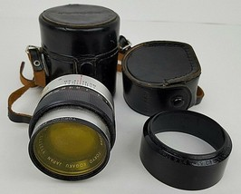 Vintage UV Topcor 100MM 1:4 Lens 9727772 w/ Leather Case & Extras Made I... - $37.39