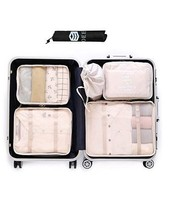 NEW Luggage Packing Organizer 7pcs Mix Storage Bags Space Saver Cubes Set - $749,42 MXN