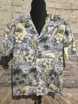 Vintage ROYAL CREATIONS Mens Hawaiian Shirt L Aloha Waikiki Surfing Ocea... - $35.39