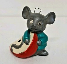 Mouse Holiday Apple Christmas Ornament Hungry Quiet Santa Night Before C... - $19.79