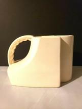 Rare Art Deco Red Wing Rumrill Pottery Pitcher Vase Cream White - $90.25