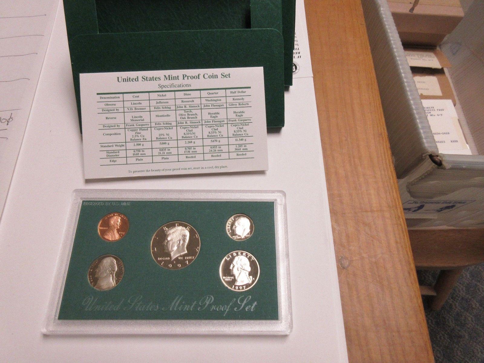 1997 United  States MInt Proof Set , Lot of 5 Sets