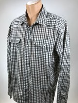 Levis XL Western Shirt Pearl Snap Mens Size XL Long Sleeve  - £17.78 GBP