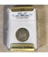 1995 Silver Quarter SGS Graded PR70CAM - $44.54