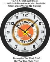 Welcome To Vietnam Sunburst Badge Wall Clock-Free US Ship - $27.71+