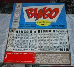 Vtg 1960 Milton Bradley MB Family Bingo Game Set # 4002 Wooden Pieces - $37.39
