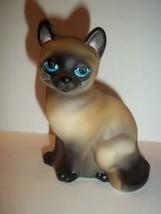 Fenton Glass Natural Siamese Sitting Cat Figurine GSE K Barley LTD ED #1... - $183.82