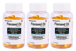 Brianna Novelsort's Flaxseed Oil Softgels (1000 mg) - Pack of 3 - $51.51