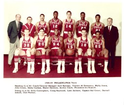 1968-69 PHILADELPHIA 76ers team 8X10 PHOTO BASKETBALL NBA SEVENTY SIXERS - $3.95
