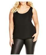 City Chic Sleek Black Rib Knit Tank Top SIZE XL  Dressy NWT - $24.75