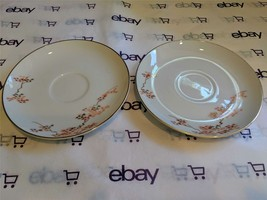 Mid Century Modern FUKAGAWA ARITA Japanese Maple China Saucers Only 2 Pi... - $6.92