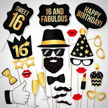 DIY 16th Birthday Party Photo Booth Props Kit C... - $22.24