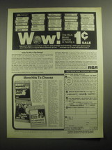 1979 RCA Music Service Ad - Wow! The music service is having a 1 sale - $14.99