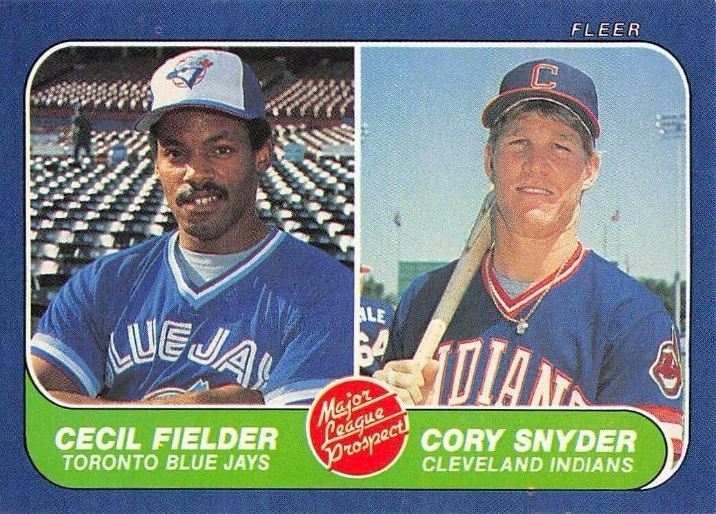 1986 Fleer Cecil Fielder Rookie Card (EXC)