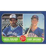 1986 Fleer Cecil Fielder Rookie Card (EXC) - $2.00