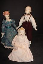 "Vintage Porcelain & Bisque 10"" Baby 13"" Boy &Girl Soft Body Doll GERMANY? - $32.66"