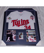 Kirby Puckett Signed Framed 31x35 Jersey & Photo Display Twins - $1,199.49