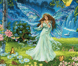"""Dimensions Gold Collection Counted Cross Stitch Kit 14""""X12""""-Spring Fairy - $43.04"""