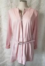 H by Halston Blush Pink Faux Suede Vegan Jacket & Belt w/ Sweater Sleeve... - $23.36