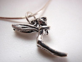 New Very Small Fairy Princess 925 Sterling Silver Necklace - $21.73