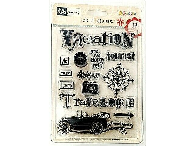 """Sandylion Kelly Panacci Clear Cling Stamp Set """"Are We There Yet?"""" #KSTP28"""