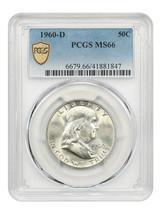 1960-D 50c PCGS MS66 - Franklin Half Dollar - $601.40