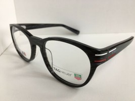 New TAG Heuer TH 0532 532 003 51mm Gray Round Men's Eyeglasses Frame France - $189.99