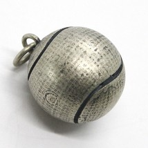 Silver Pendant 925, Burnished and Satin,Ball from Tennis - $66.70