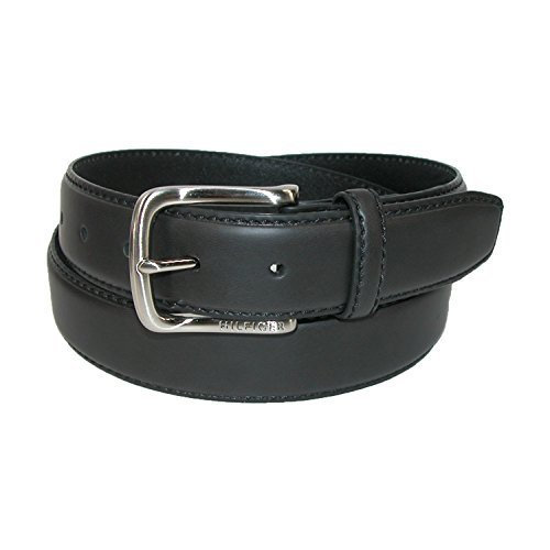 Tommy Hilfiger Men's Leather Stitch Belt,Black,40