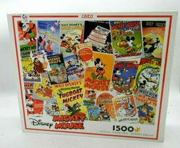 Disney Mickey Mouse Jigsaw Puzzle Poster Collage 1500 piece Ceaco 32x24 - $24.72