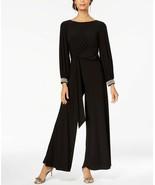 MSK Rhinestone-Embellished Wide-Leg Jumpsuit Black Size S - $37.99