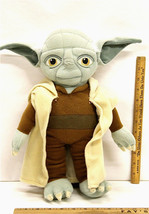 Star Wars Yoda Childrens Plush Stuffed Animal Backpack w/ Zipper Pouch B... - $21.00