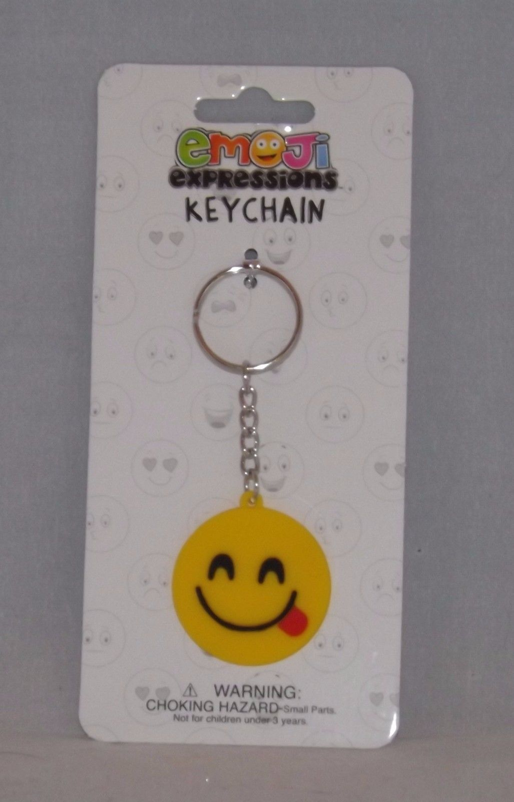 Almar Emoji Expressions Key Chain Ring  - New - Tongue Out Emoji