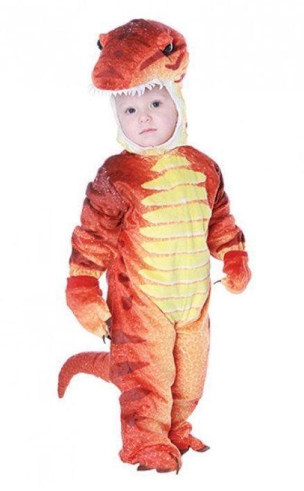 Underwraps Dinosaurio T Rex T-Rex Rojo Bebés Niños Infantil Disfraz Halloween