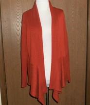 Christopher & Banks Cardigan Sweater Cascade Front XL Rust Burnt Orange - $12.76