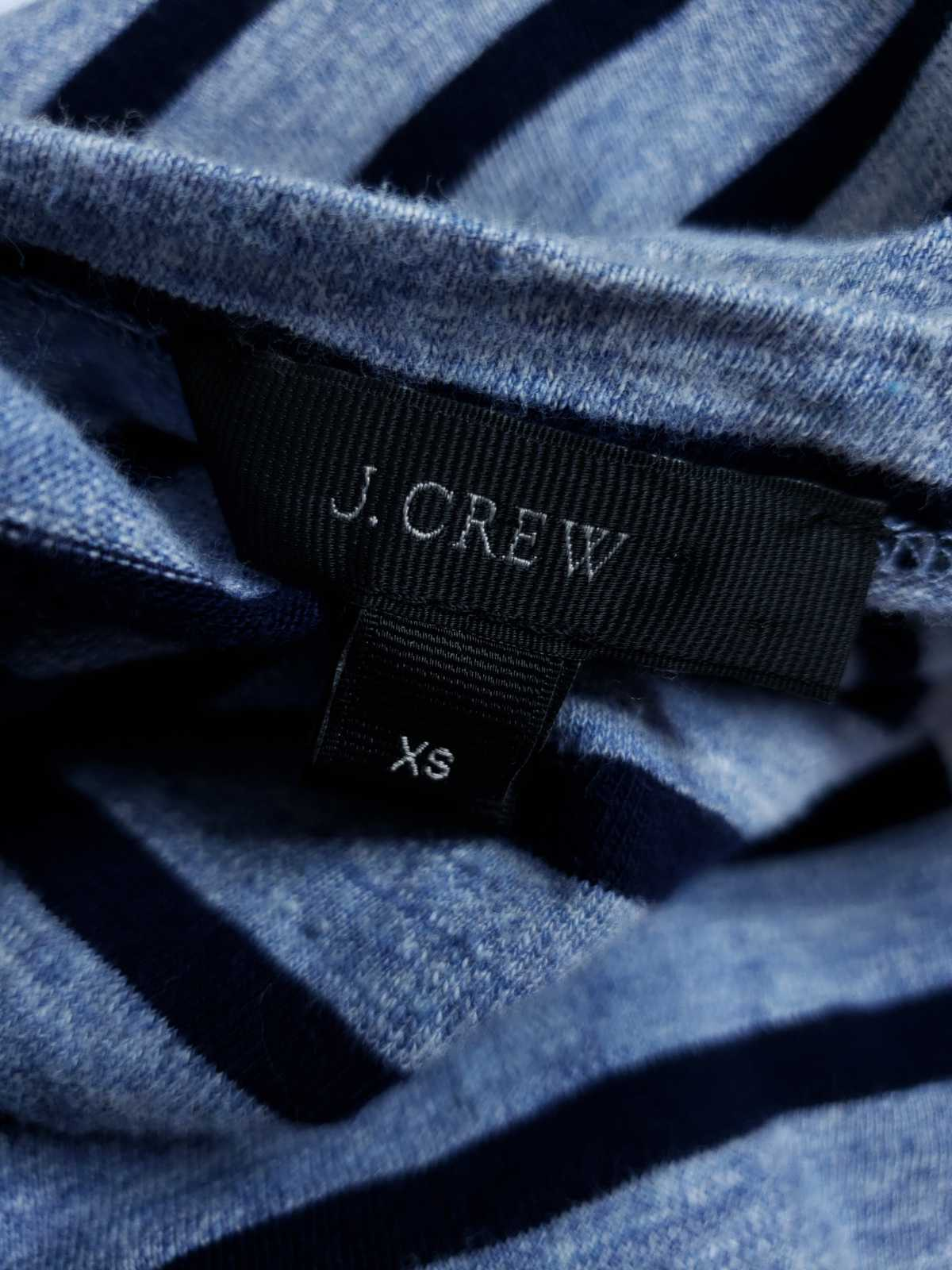 J.Crew Women XS Dress Striped Side Zip Tshirt Cotton Long Sleeve Casual image 5