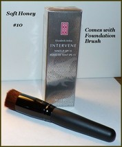 NEW & FACTORY SEALED Elizabeth Arden INTERVENE Foundation #10 Soft Honey... - $14.95