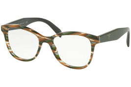 Authentic Prada PR12TV VAO1O1 53MM Sheaves Grey Brown Eyeglasses  - $376.20