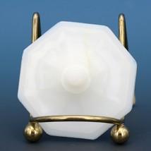 Vintage Akro Agate Milk Glass Small Octagon Teapot Lid