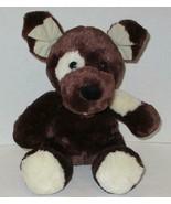 "BUILD A BEAR FUDGE PUP PUPPY DOG 14"" DARK CHOCOLATE BROWN PLUSH STUFFED ... - $5.99"