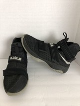 Nike LeBron Soldier Black Basketball Shoes Size 7Y  845121 - $44.54