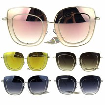 Womens Retro Vintage Rectangular Luxury Designer Sunglasses - $12.95