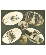 Antique Photographs Summer Collage Beach Boardwalk Early Mounted Photos - $24.99