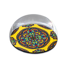 "Multi-Color Mandala Pattern Illustration 2"" Crystal Dome Magnet or Paper... - $15.99"