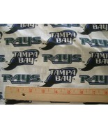 """TAMPA BAY RAYS MLB COTTON FABRIC 1/2 YARD X 57"""" for Mask FREE SHIP Retired 18x57 - $16.99"""