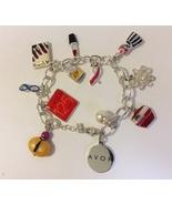 Avon 12 Charms Bracelet Silver Metal Link Chain 125 Years Anniversary Li... - $28.00