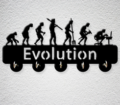 Decoration Home, key hanger - pattern Evolution gift for you - $25.00