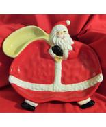 "Santa Lg. Dip &Chip,or Vegetable &Dip, PLate, Figi, 13""X11"",Cute. - $18.00"