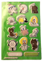 LINE (14) Anime Puffy Sticker Sheet - $4.88